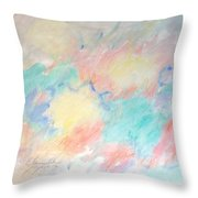 Yellow Infusions Throw Pillow