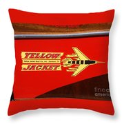 Yellow Jacket Outboard Boat Throw Pillow