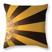 Yellow Jacket No 2 Throw Pillow