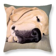 Yellow Lab - A Head Pillow Is Nice Throw Pillow