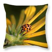 Yellow Lady - 2 Throw Pillow