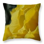 Yellow Landscape Throw Pillow