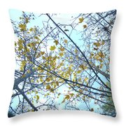 Yellow Leaves Vintage Throw Pillow