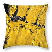 Yellow Line Abstract Throw Pillow