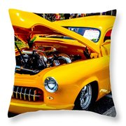 Yellow Machine Throw Pillow