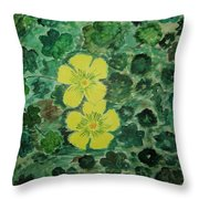 Yellow Magic  Throw Pillow