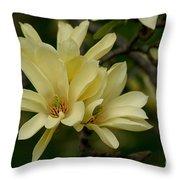 Yellow Magnolia Throw Pillow