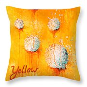 Yellow Throw Pillow by Michelle Boudreaux