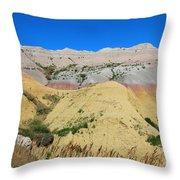 Yellow Mounds Badlands National Park Throw Pillow