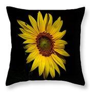 Yellow On Black Throw Pillow