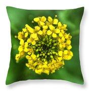 Yellow On Green Throw Pillow