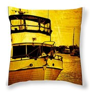 Yellow On The Water Throw Pillow