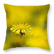 Yellow On Yellow Dandelion Throw Pillow
