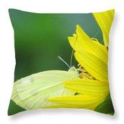 Yellow On Yellow Throw Pillow