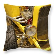 Street Car - Yellow Open Engine Throw Pillow