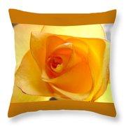 Yellow Orange Rose Throw Pillow