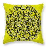 Yellow Oreo Throw Pillow