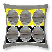 Yellow Oval Throw Pillow