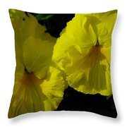 Yellow Pansies  Throw Pillow