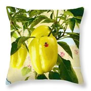 Yellow Pepper Throw Pillow