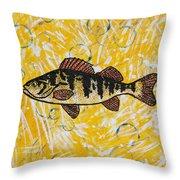 Yellow Perch Throw Pillow