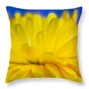 Yellow Petal Explosion Throw Pillow
