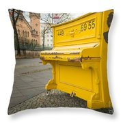 Yellow Piano Beethoven Throw Pillow