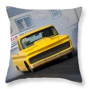 Yellow Pick Up Truck Throw Pillow