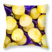 Yellow Plums Throw Pillow