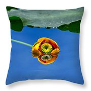 Yellow Pond Lily Throw Pillow