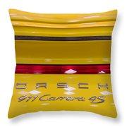 yellow Porsche Throw Pillow
