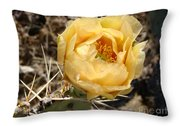 Yellow Prickly Pear Throw Pillow