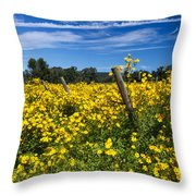 Yellow Profusion Throw Pillow