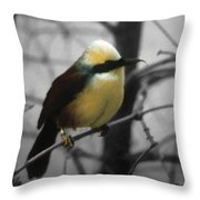 Yellow Puff Throw Pillow