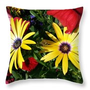 Yellow Punch Throw Pillow