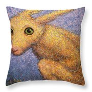 Yellow Rabbit Throw Pillow