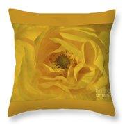 Yellow Ranunculus Throw Pillow