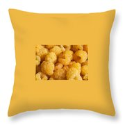 Yellow Raspberry Abstract Throw Pillow