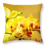 Yellow Red Orchid Flowers Art Prints Orchids Throw Pillow