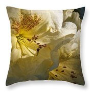 Yellow Rhododendron Throw Pillow