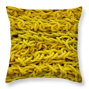 Yellow Rope Stack Throw Pillow