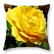 Yellow Rose IIi Throw Pillow
