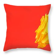 Yellow Rose On Red Throw Pillow