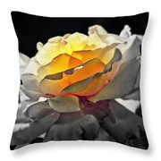 Yellow Rose Series - ...but Soul Is Alive Throw Pillow