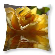 Yellow Rose Wet And Dry Throw Pillow