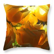 Yellow Roses And Light Throw Pillow