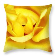 Yellow Sapphire Rose Palm Springs Throw Pillow