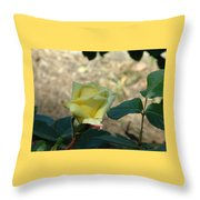 Yellow Satin Throw Pillow