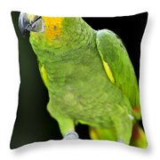 Yellow-shouldered Amazon Parrot Throw Pillow