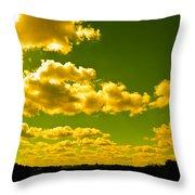 Yellow Skies Throw Pillow
